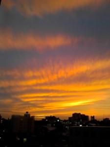 去年の夕陽